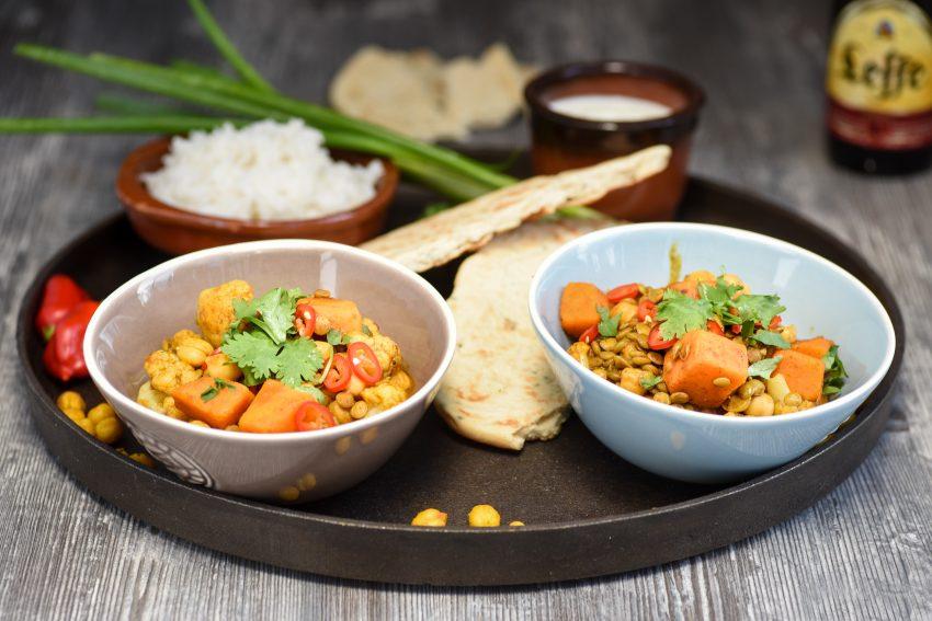 Groene linzen curry