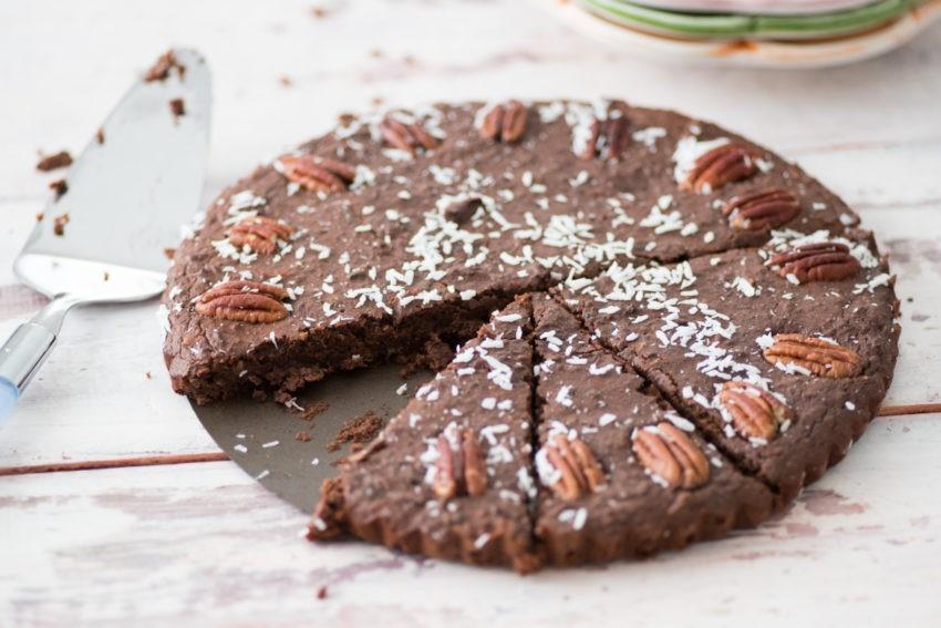 Zoete traktatie van zwarte bonen: brownies