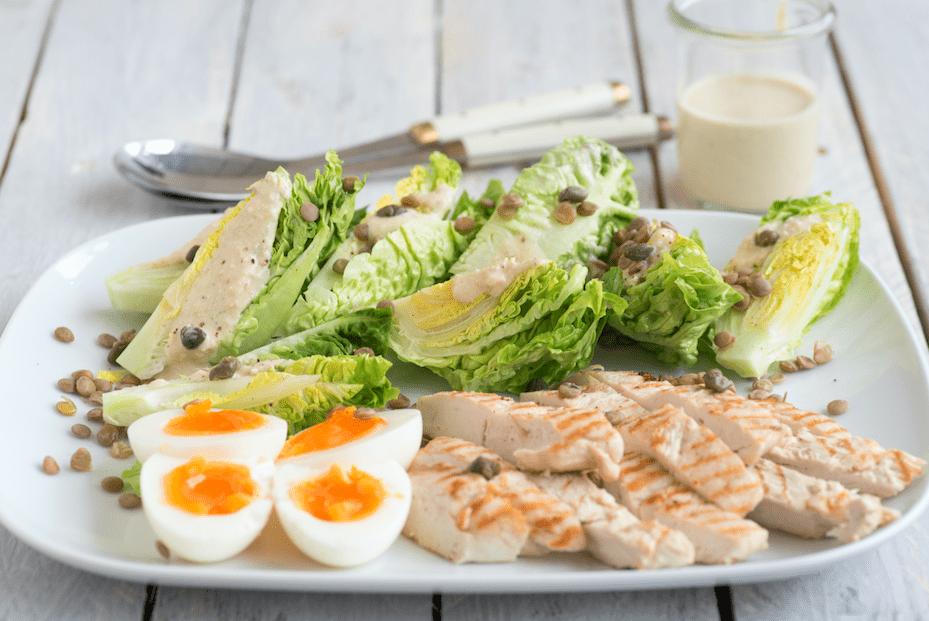 Ceasarsalade met linzen - peulvruchten.nl