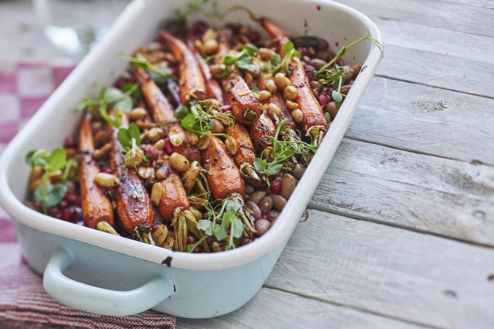 Salade van bospeen en kievitsbonen - Peulvruchten.nl