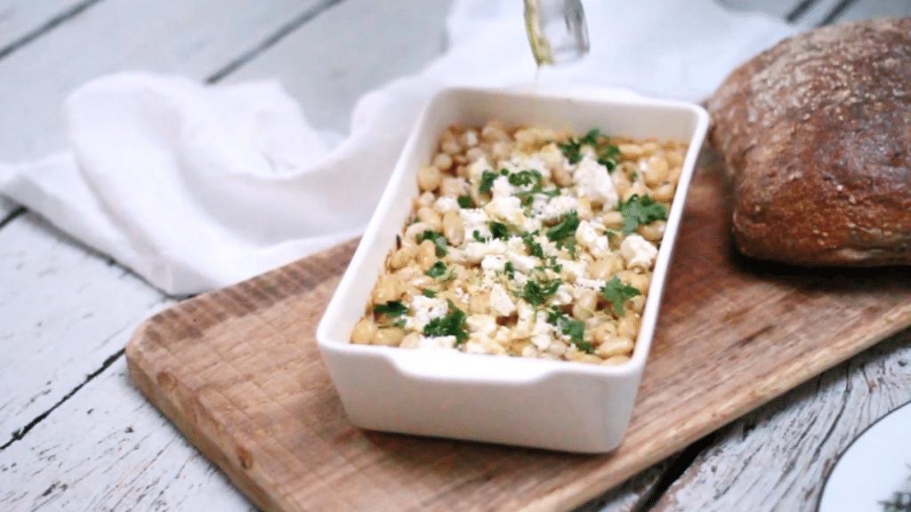Bonen met kruiden & Feta ui de oven, Made by Ellen
